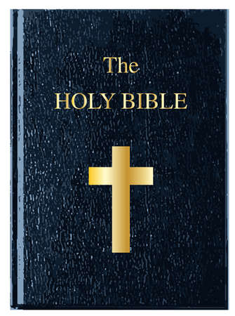 new testament: The front cover of The Holy Bible over a white background Illustration