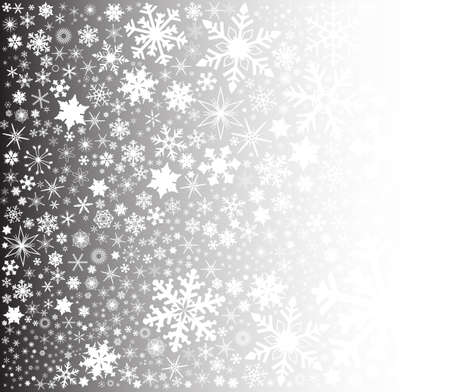 페이드: A fountain of christmas snowflakes on a fade background. 일러스트