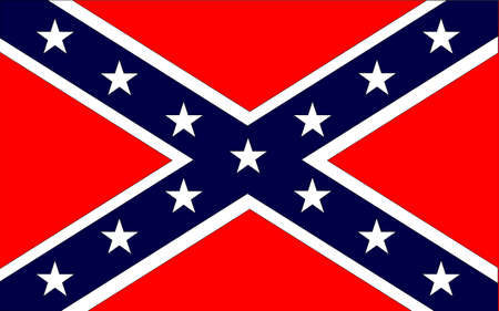 The flag of the confederates during the American Civil War Vector