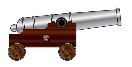 vecchia nave: Una rappresentazione di una vecchia nave delle linee di cannone pistola