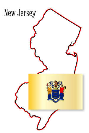 inset: Outline map of the state of New Jersey over a white background with map inset
