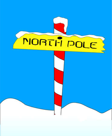 north pole sign: A sign at the north pole with the message \\
