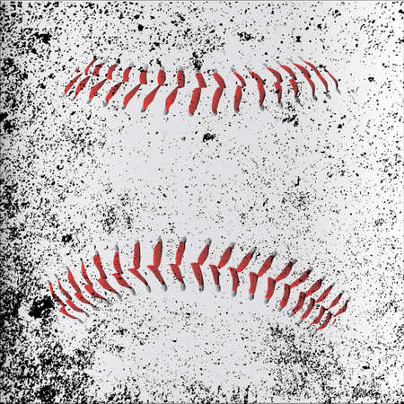 grunge layer: Red Baseball Stitches beneath a grunge layer