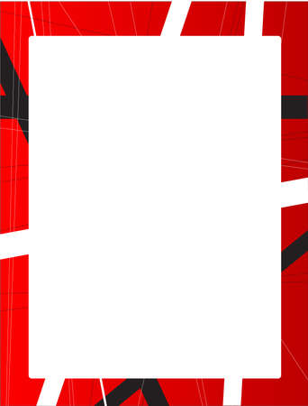 criss cross: A red background with black and white criss cross items and large copy space