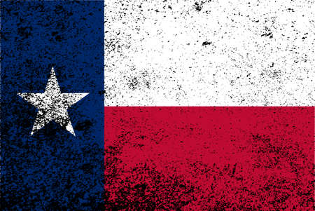 The flag of the USA state of TEXAS with grunge effect
