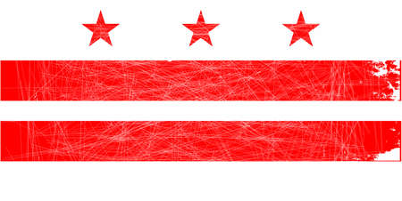 dc: The Washington DC State Flag in red and white