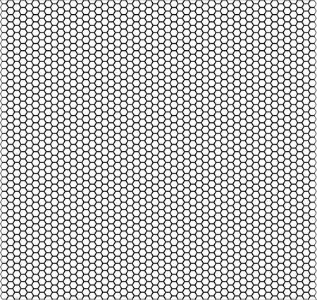 regularity: A honeycomb pattern over a white background Illustration