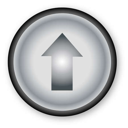 push button: A push button over a white background. Illustration