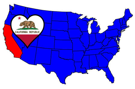 inset: California state outline and icon inset