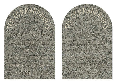 The two stones containing the ten commandments Vector Illustration