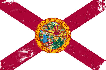 sunshine state: The flag of the USA state of Florida