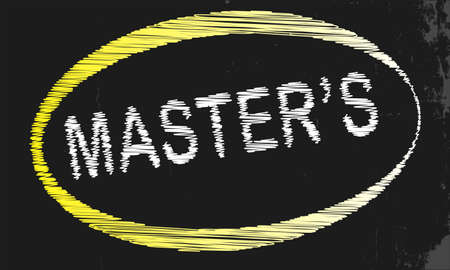 masters: A blackboard with a chalk word Masters