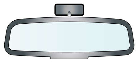 Depiction of a vehicle rear view mirror