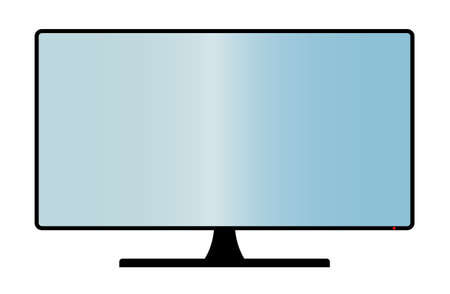 copy space: A TV or computer screen with copy space area