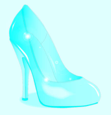 A glass see through stiletto heel shoe Illustration