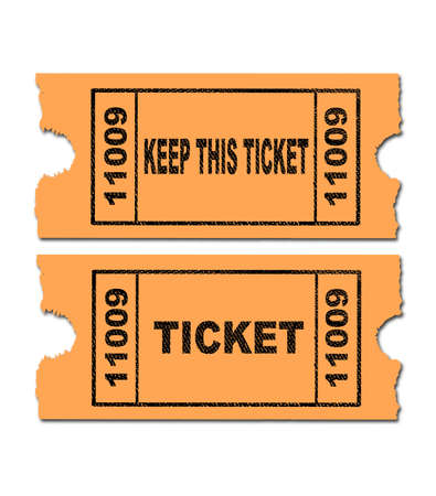 raffle: Ticket for a raffle on a white background