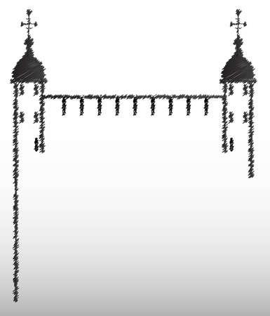 martinet: Aper�u Croquis de la Tour de Londres Illustration