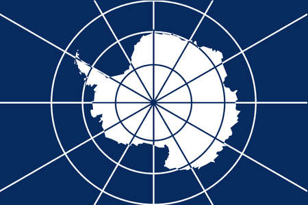 treaty: The flag accepted as the Flag of Antarctica showing the outline map of the continent as accepted by the international treaty