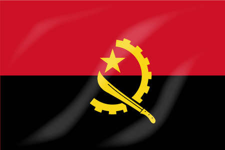 flag icons: The flag of the African country of Angola Illustration