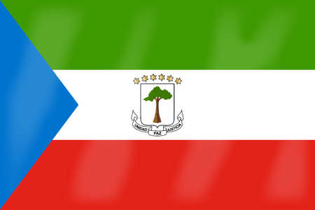 equatorial: The flag of the African country of Equatorial Guinea Illustration