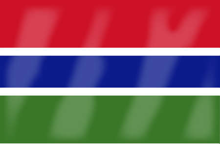 gambia: The flag of the African country of Gambia