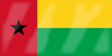 bissau: The flag of the African country of Guinea Bissau