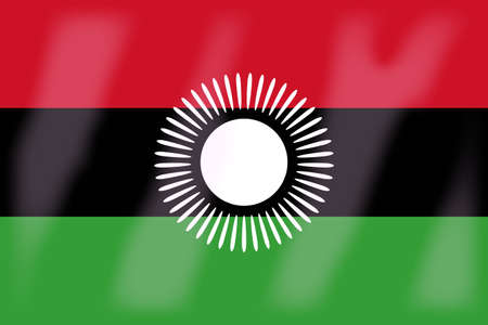 malawi flag: The flag of the African country of Malawi