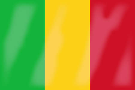 mali: The flag of the African country of Mali