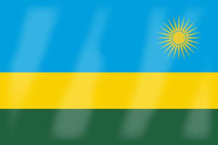 rwanda: The flag of the African country Rwanda