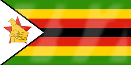 zimbabue: La bandera del pa�s africano de Zimbabwe