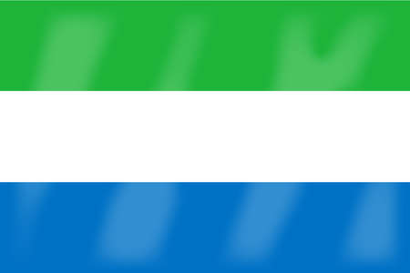 leone: The flag of the African country Sierra Leone Illustration