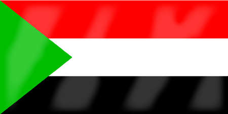 sudan: The flag of the African country Sudan