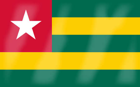 togo: The flag of the African country Togo Illustration