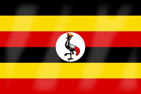 uganda: The flag of the African country Uganda Illustration