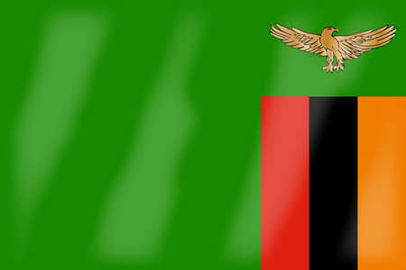 zambia: The flag of the African country Zambia
