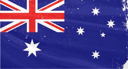 slight: The flag of Australia with slight grunge effect