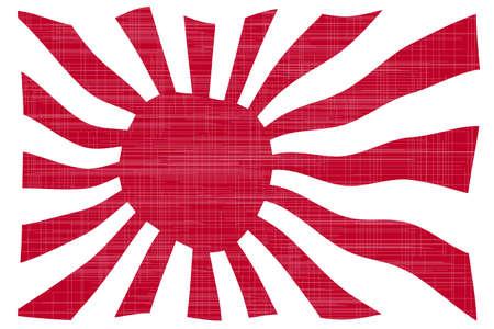 bandera japon: El sol naciente bandera japonesa en rojo y blanco con efecto grunge