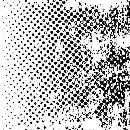 Une demi-ton noir et blanc grunge