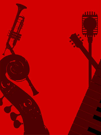 pop musician: Background for a jazz club poster