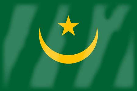mauritania: Flag of the Arab League country of Mauritania