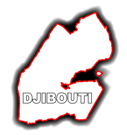 league: Outline map of the Arab League country of Djibouti