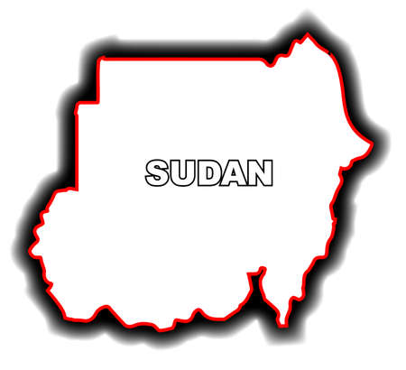 league: Outline map of the Arab League country of Sudan