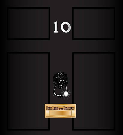 elections: The front door of number ten downing street the home of the British Prime Minister