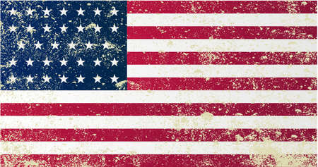 civil: A grunge style Union civil war stars and stripes flag