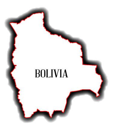 mapa de bolivia: Esquema mapa en blanco del pa�s sudamericano de Bolivia