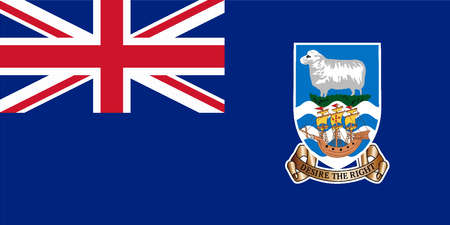 flag icon: Flag of the South American country of Falkland Islands Illustration