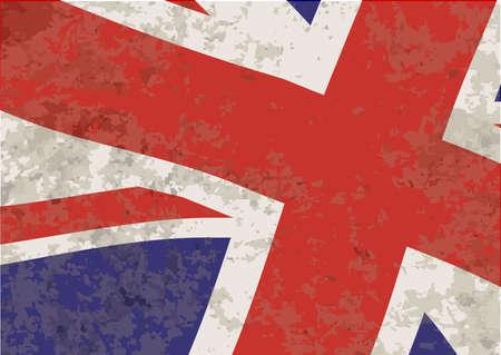 grunge union jack: Union Jack Flag waving with grunge effect Illustration
