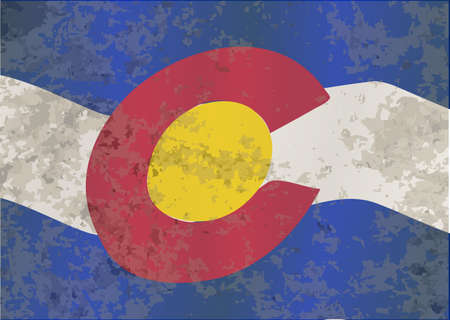 state of colorado: The flag of the USA state of Colorado with grunge effect