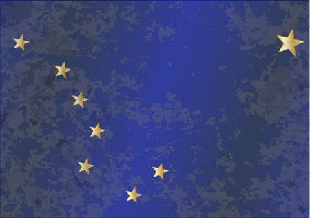 The flag of the state of Alaska Vector