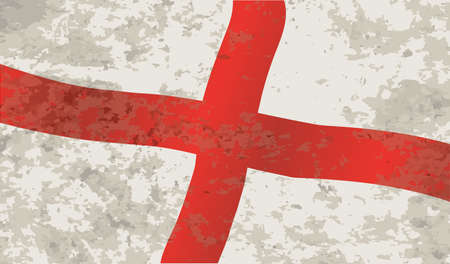 saint george: The flag of England and Saint George with grunge
